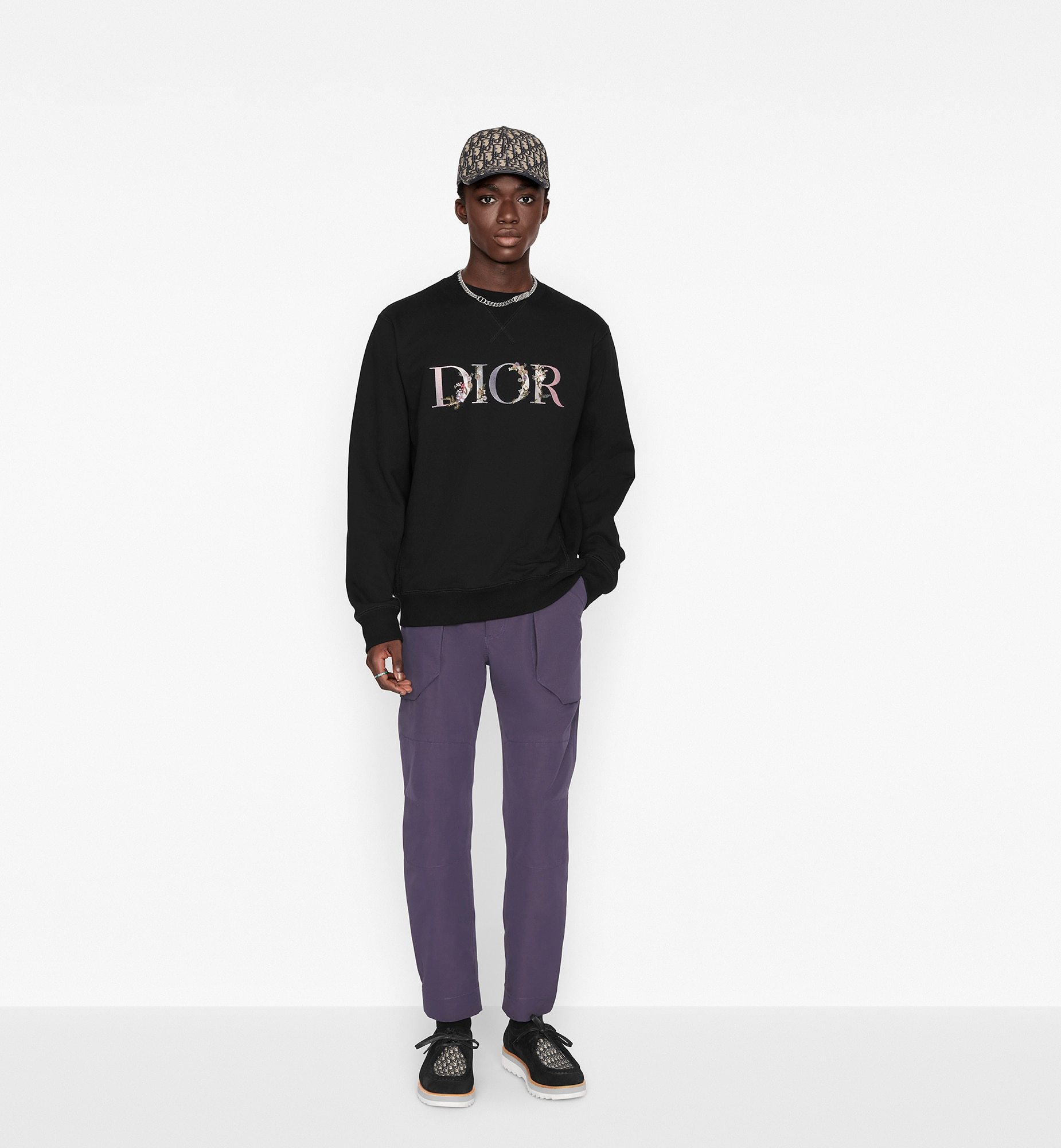 Oversized Dior Flowers Sweatshirt Worn view cropped Open gallery