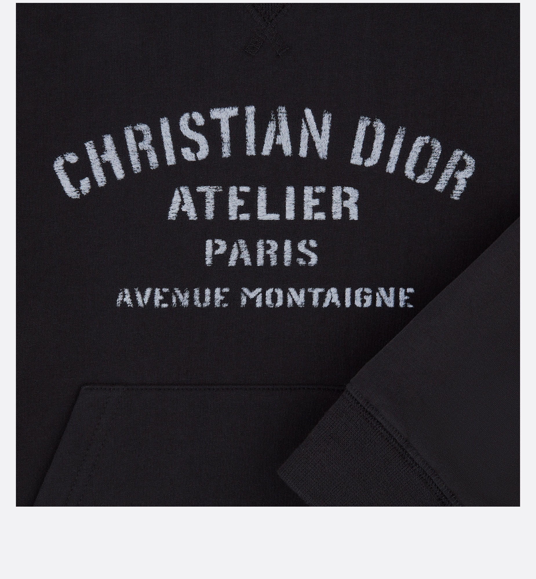 'Christian Dior Atelier' Hooded Sweatshirt Detailed view Open gallery