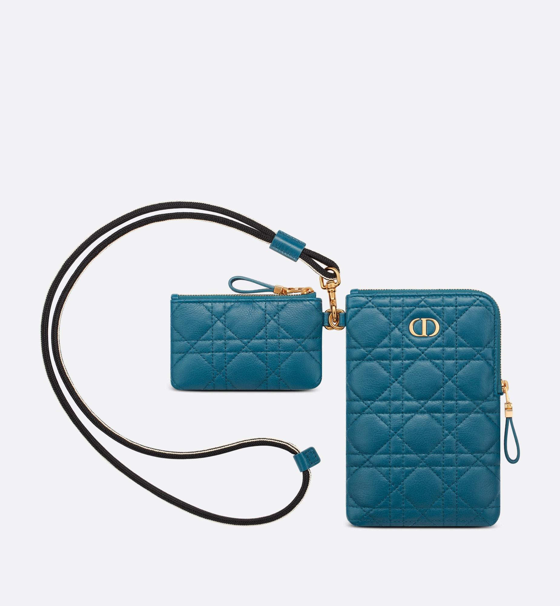 Pochette multifonction Dior Caro Vue arrière Ouverture de la galerie d'images