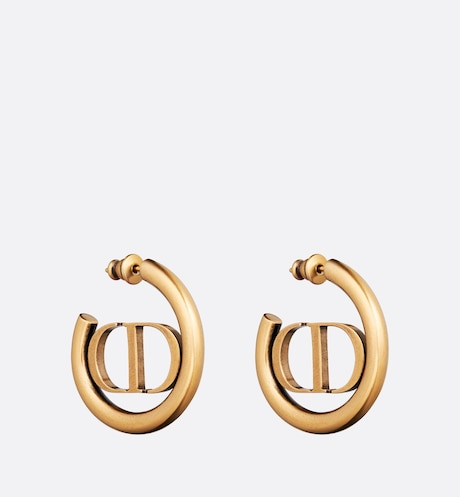 30 Montaigne Hoop Earrings Three quarter closed view Three quarter closed view
