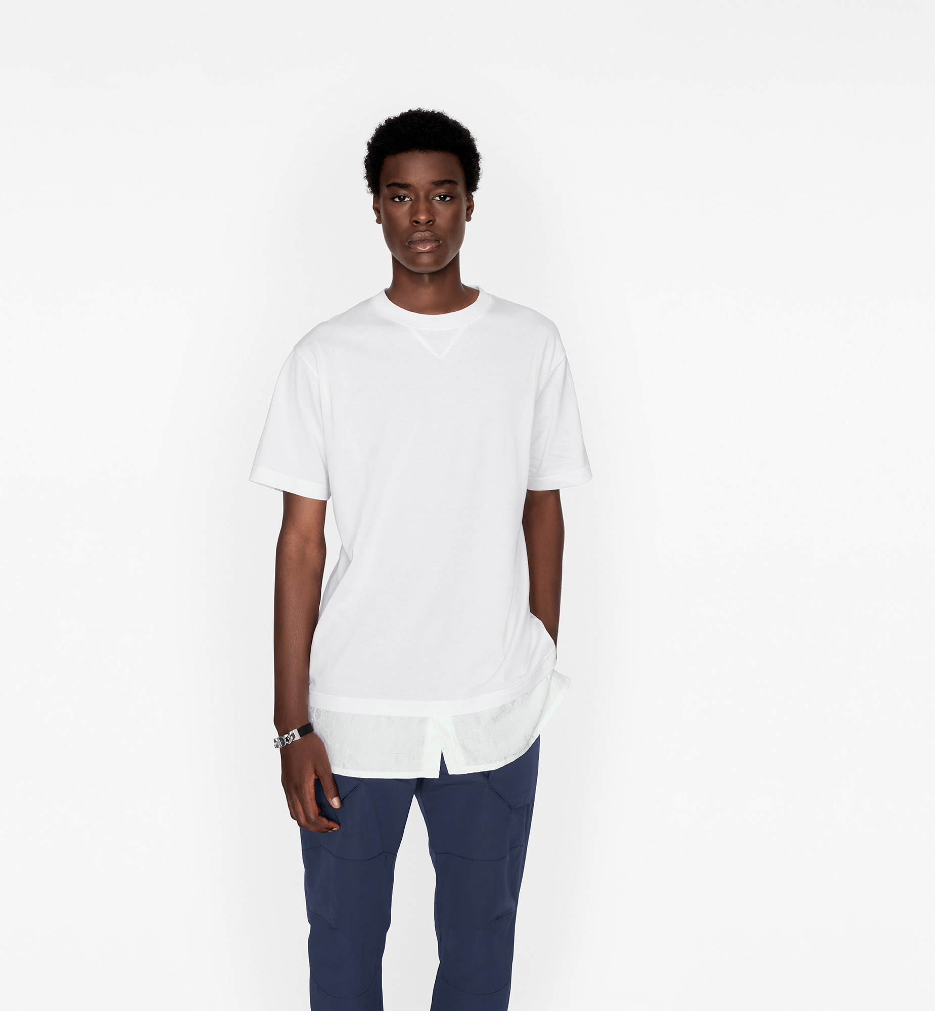 Oversized Dior Oblique T-Shirt Worn view cropped Open gallery