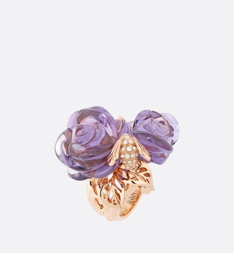 Large Rose Dior Pré Catelan Ring Front view Front view