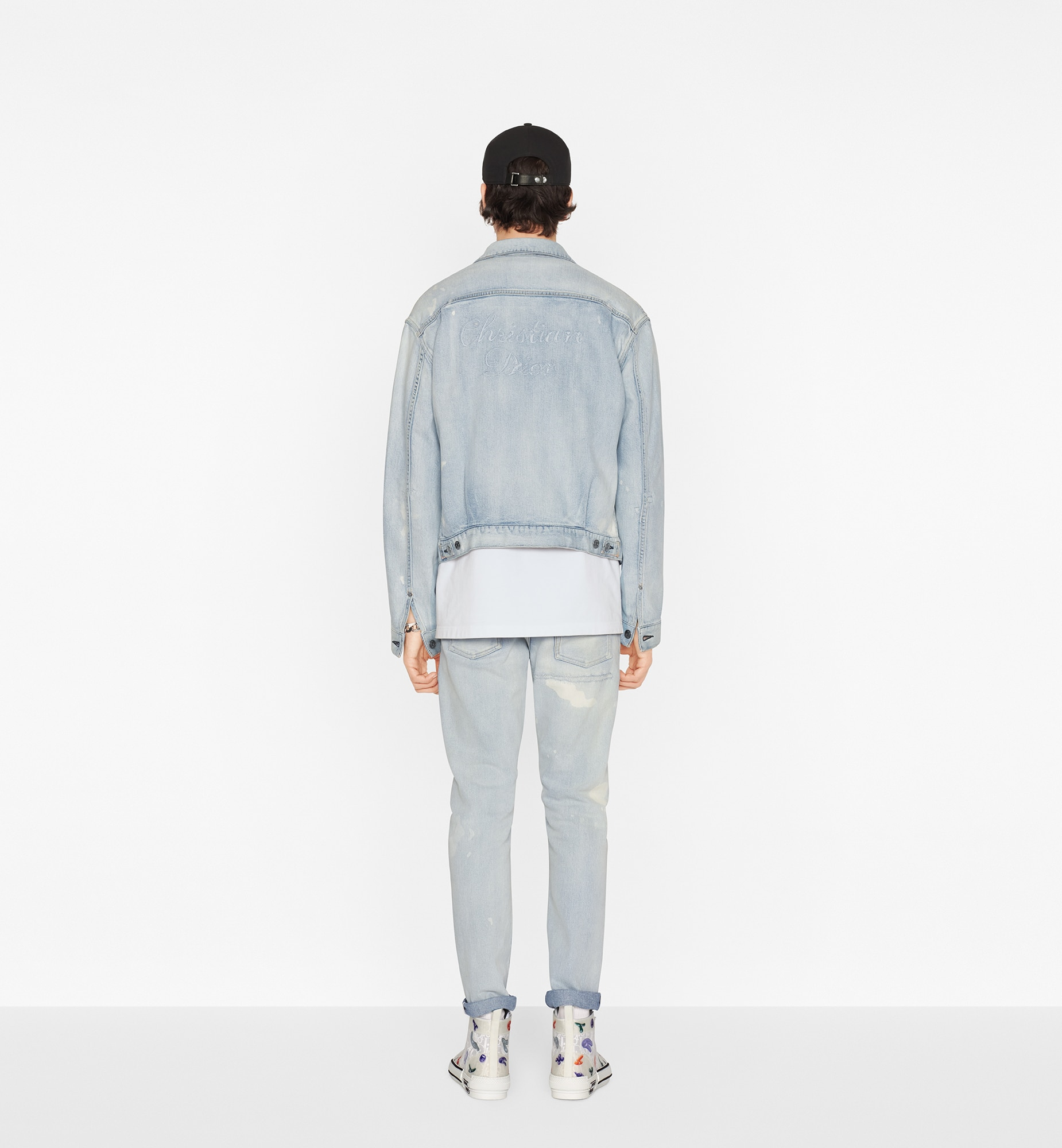 DIOR AND KENNY SCHARF Slim-Fit Jeans Worn view Open gallery