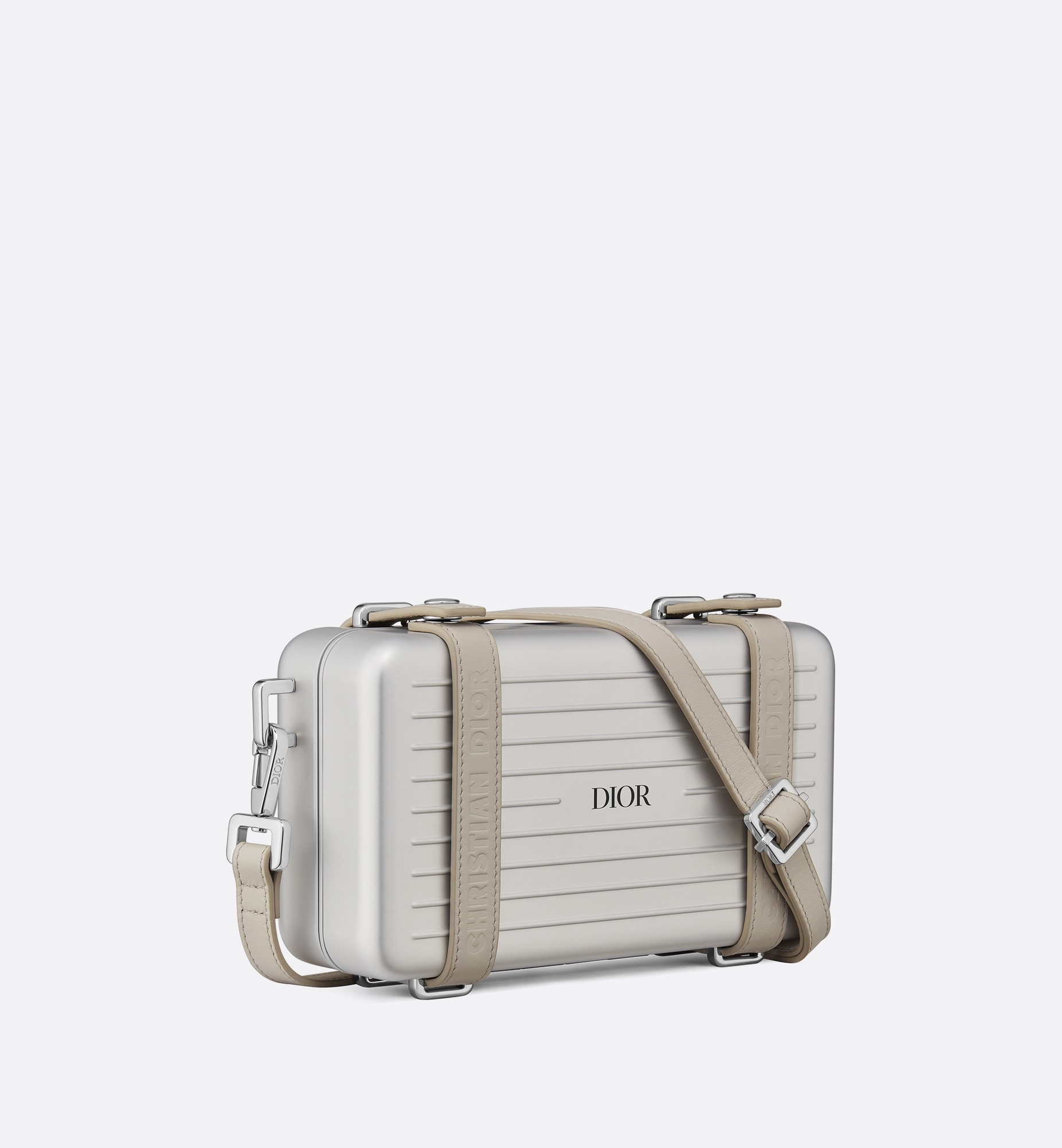 DIOR and RIMOWA Personal Clutch  Three quarter closed view Open gallery