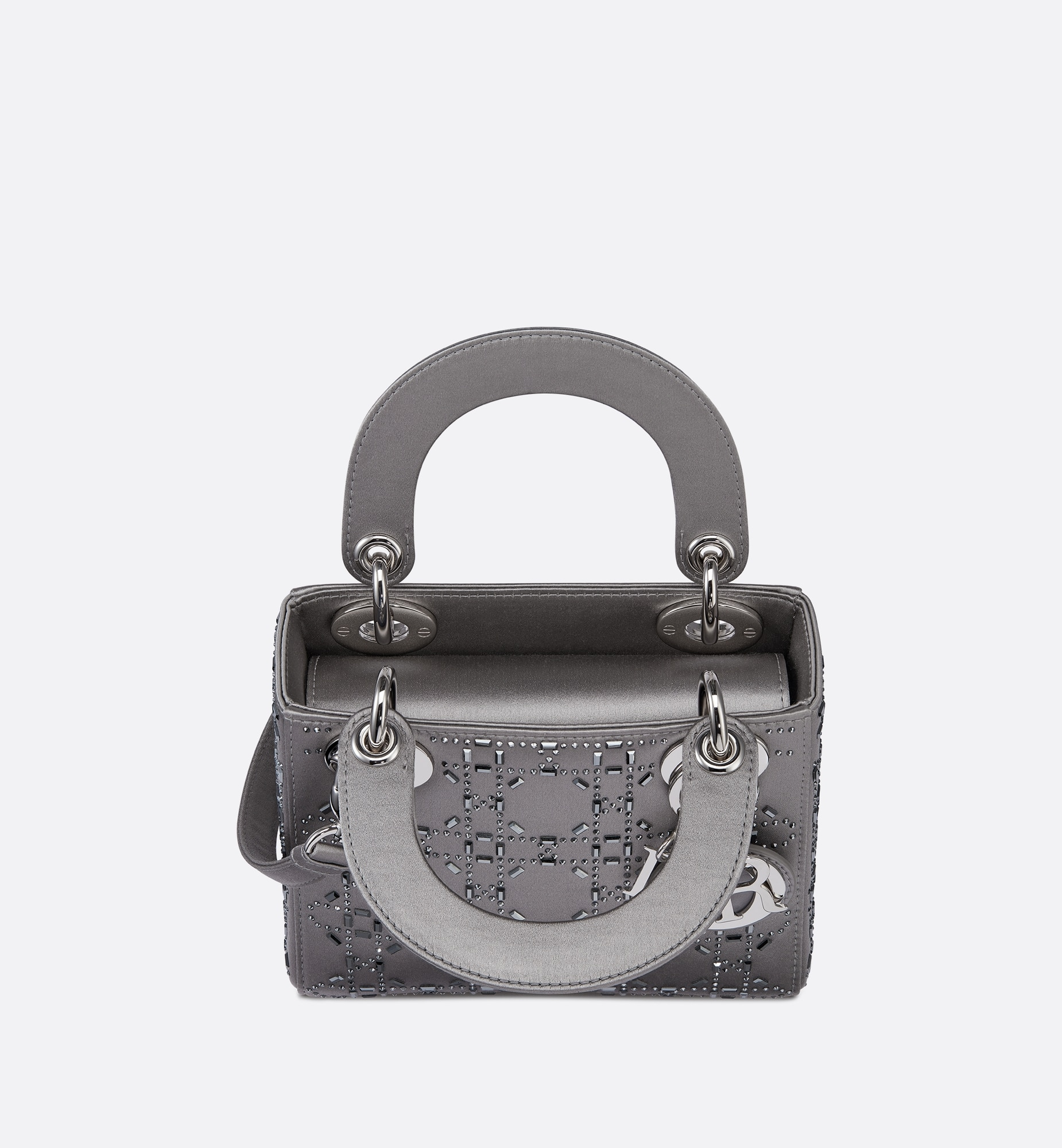 Mini Lady Dior Bag Top shot view Open gallery