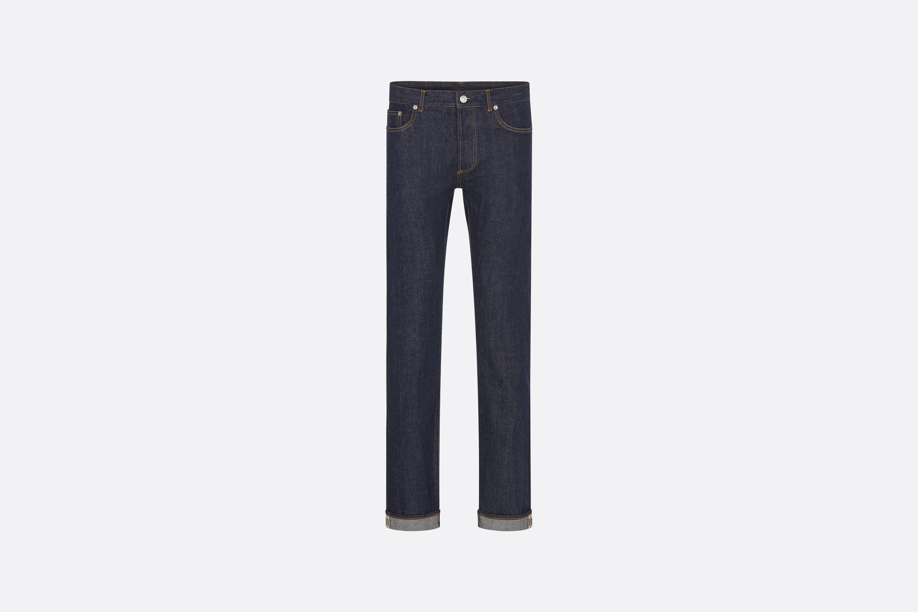 Selvedge Slim-Fit Jeans  Front view Open gallery