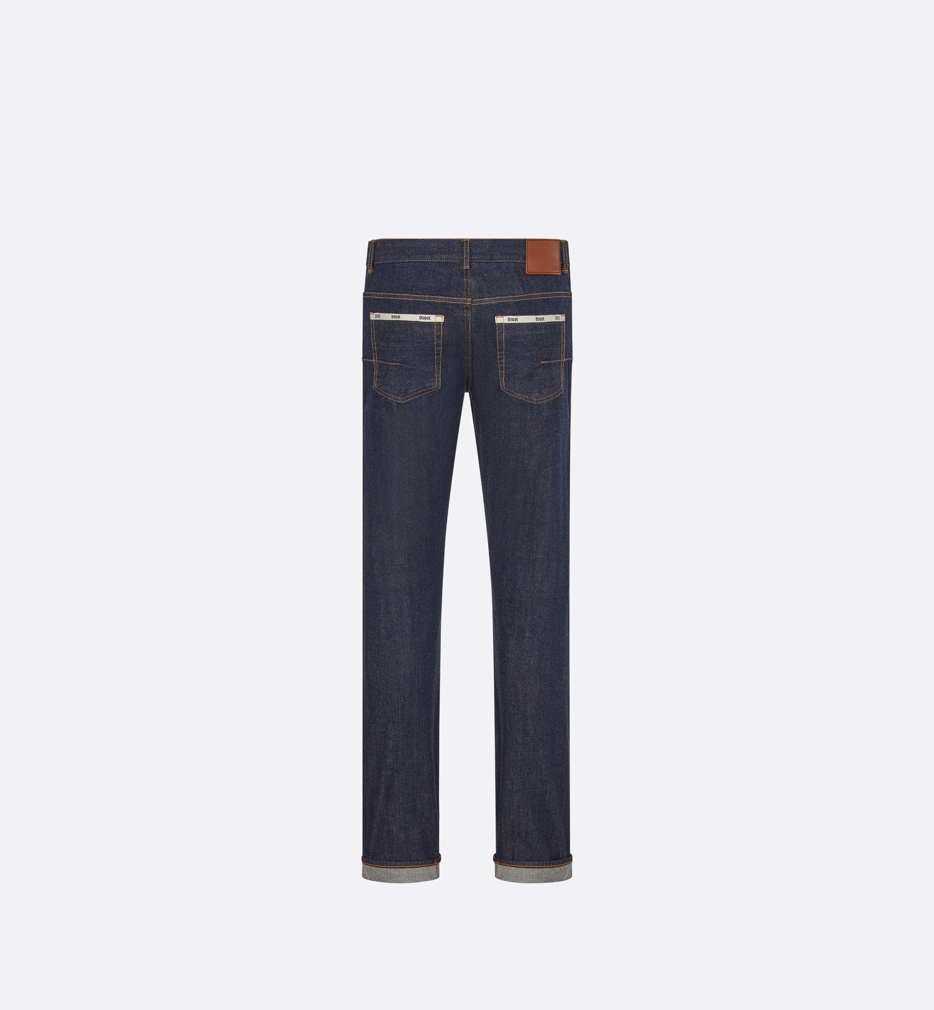 Selvedge Slim-Fit Jeans  Back view Open gallery