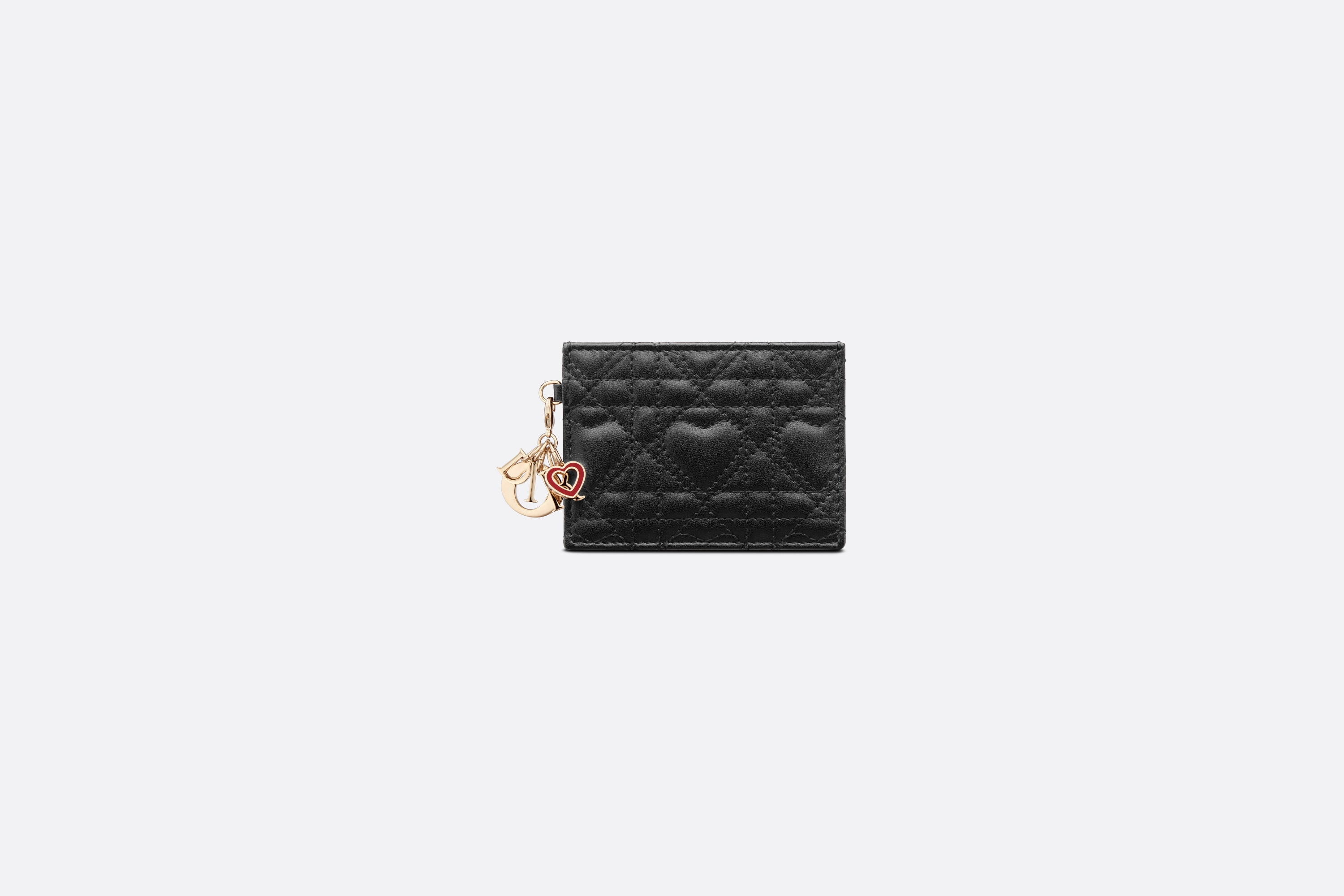Dioramour Lady Dior Flat Card Holder Front view Open gallery