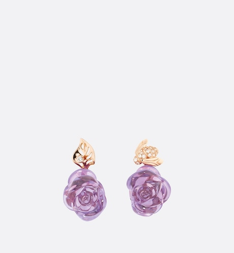 Rose Dior Pré Catelan Earrings Front view Front view
