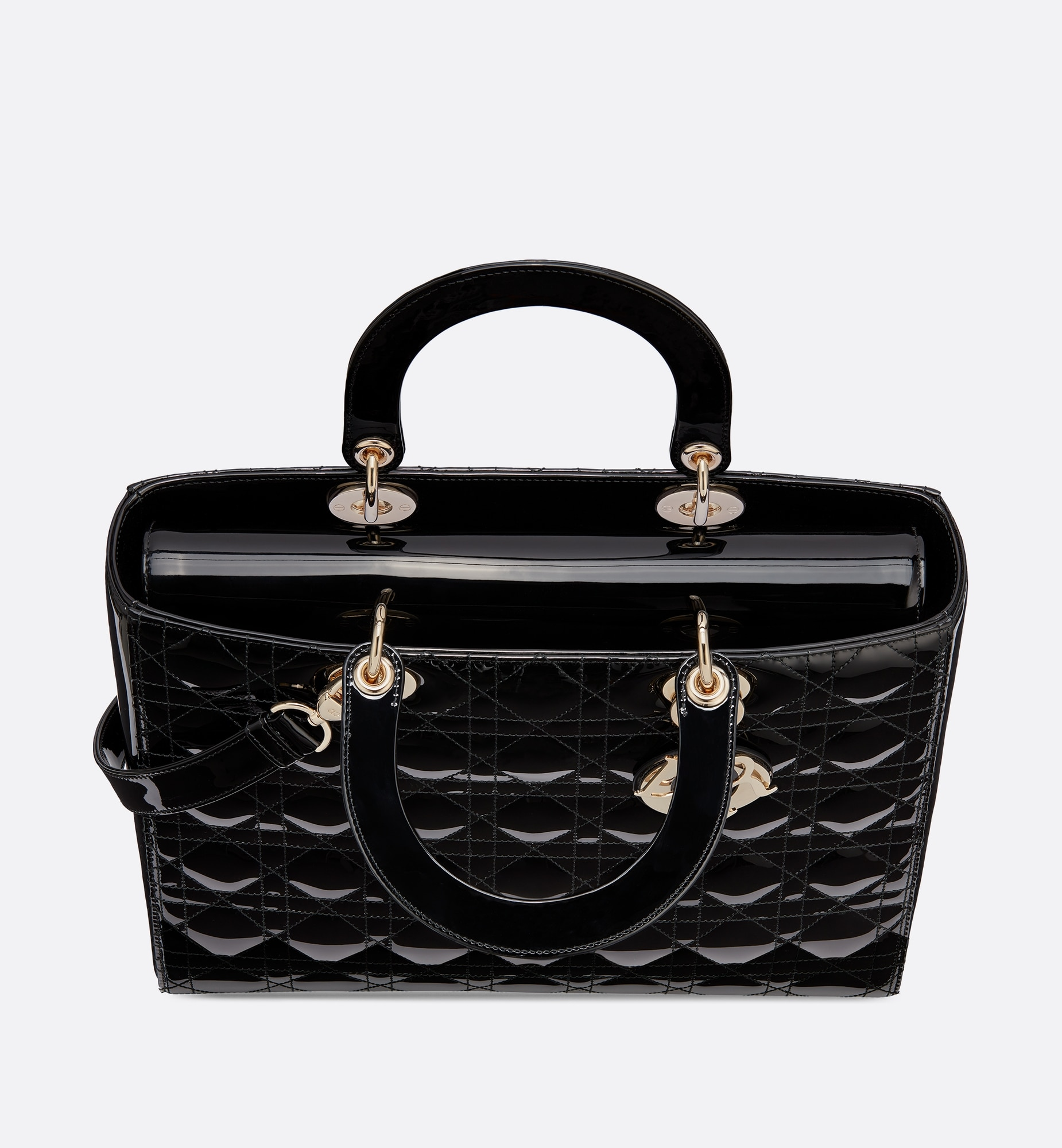 Large Lady Dior Bag  Top shot view Open gallery