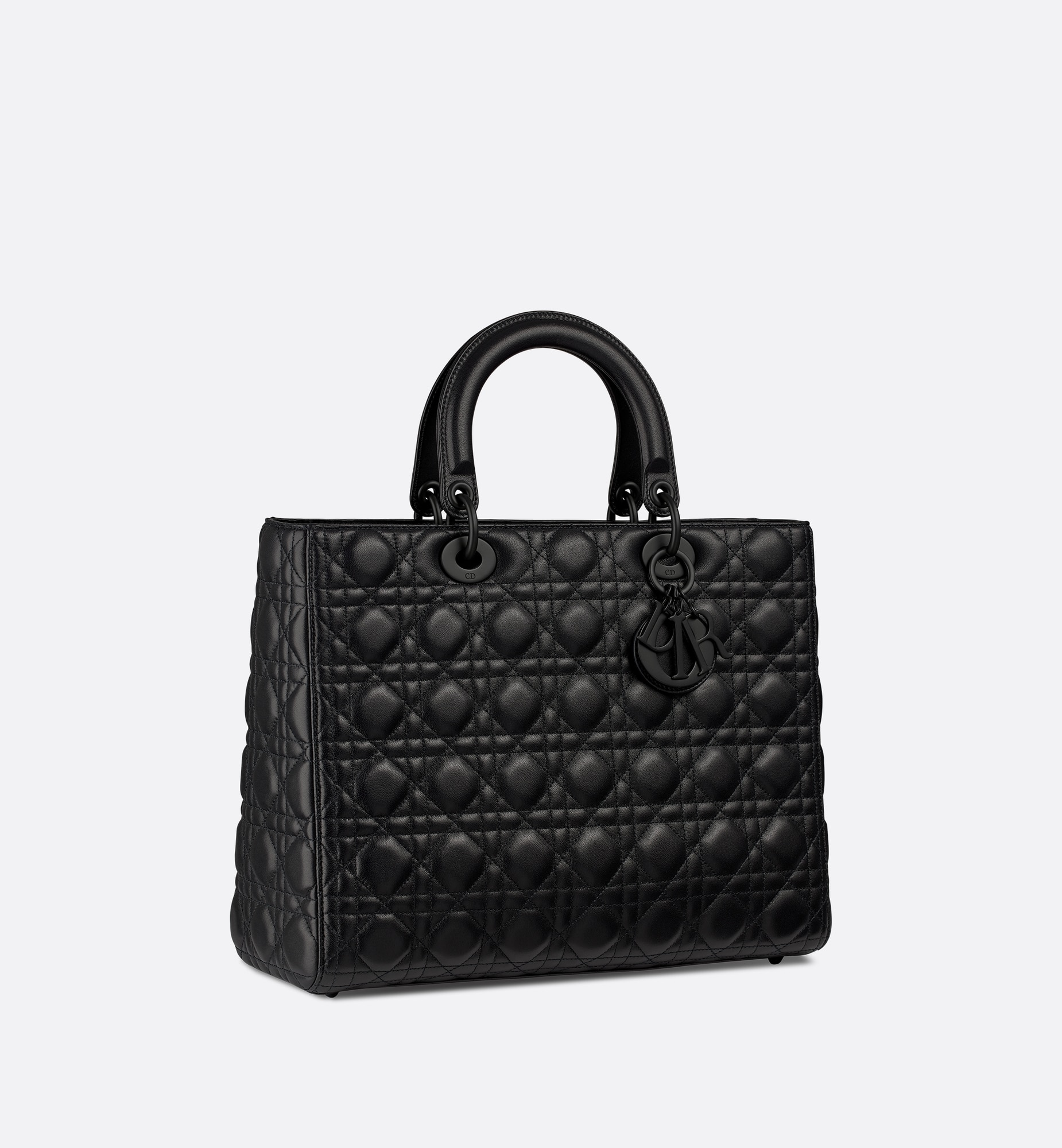 Large Lady Dior Bag Three quarter closed view Open gallery