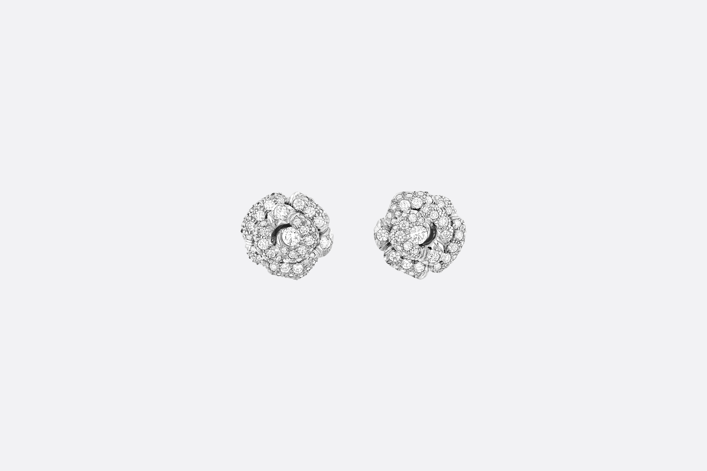 Small Rose Dior Bagatelle Earrings Front view Open gallery