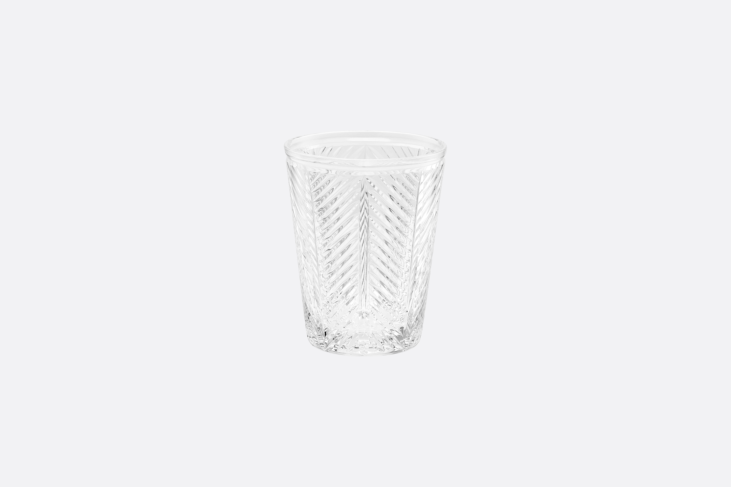Clear Water Glass Front view Open gallery