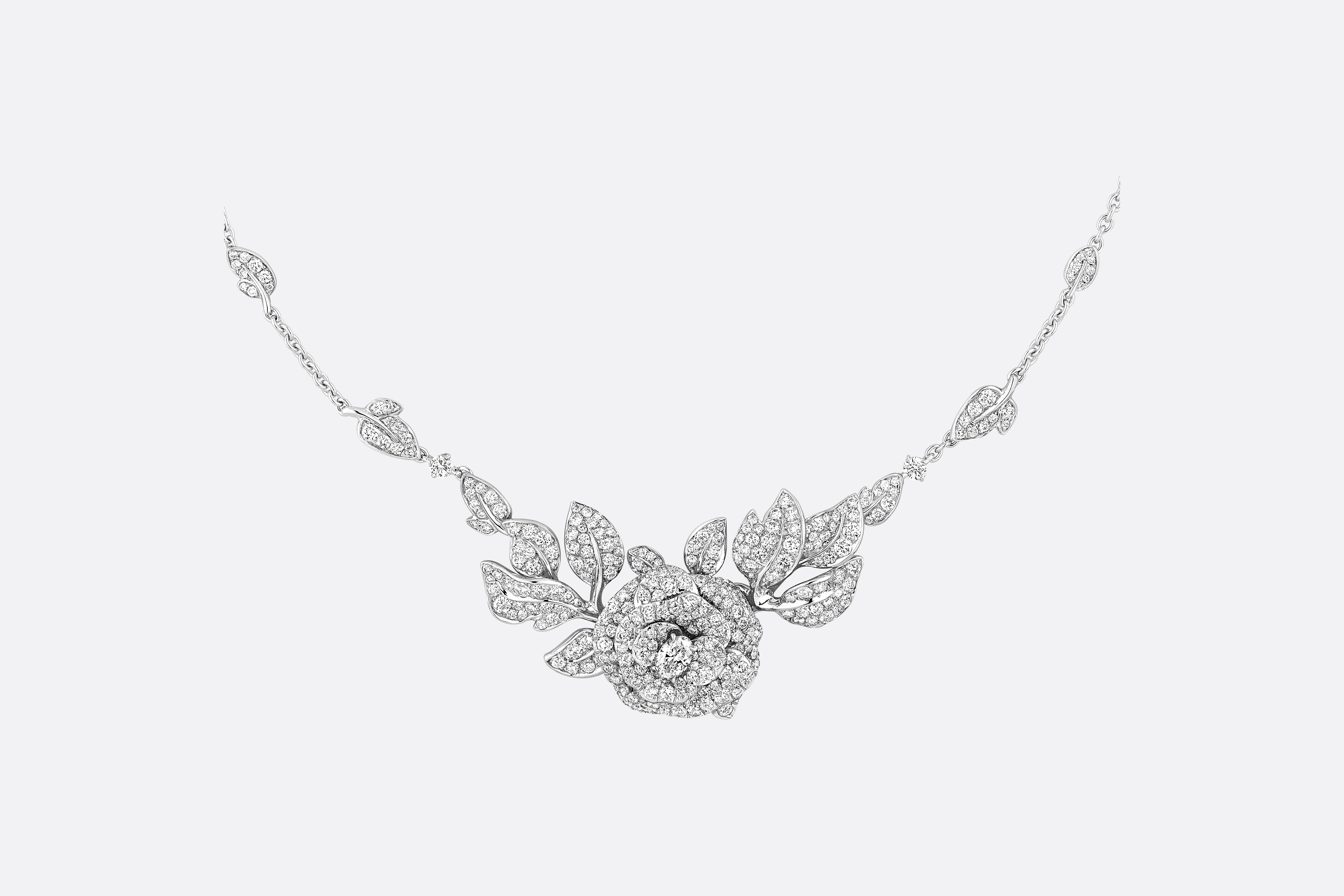 Collier Rose Dior Bagatelle GM Vue de face Ouverture de la galerie d'images