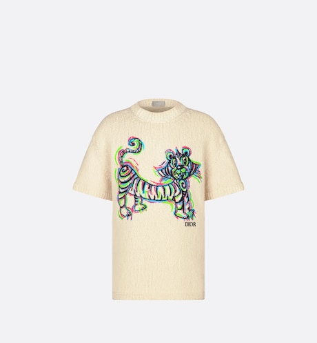DIOR AND KENNY SCHARF Knit T-Shirt Front view Front view