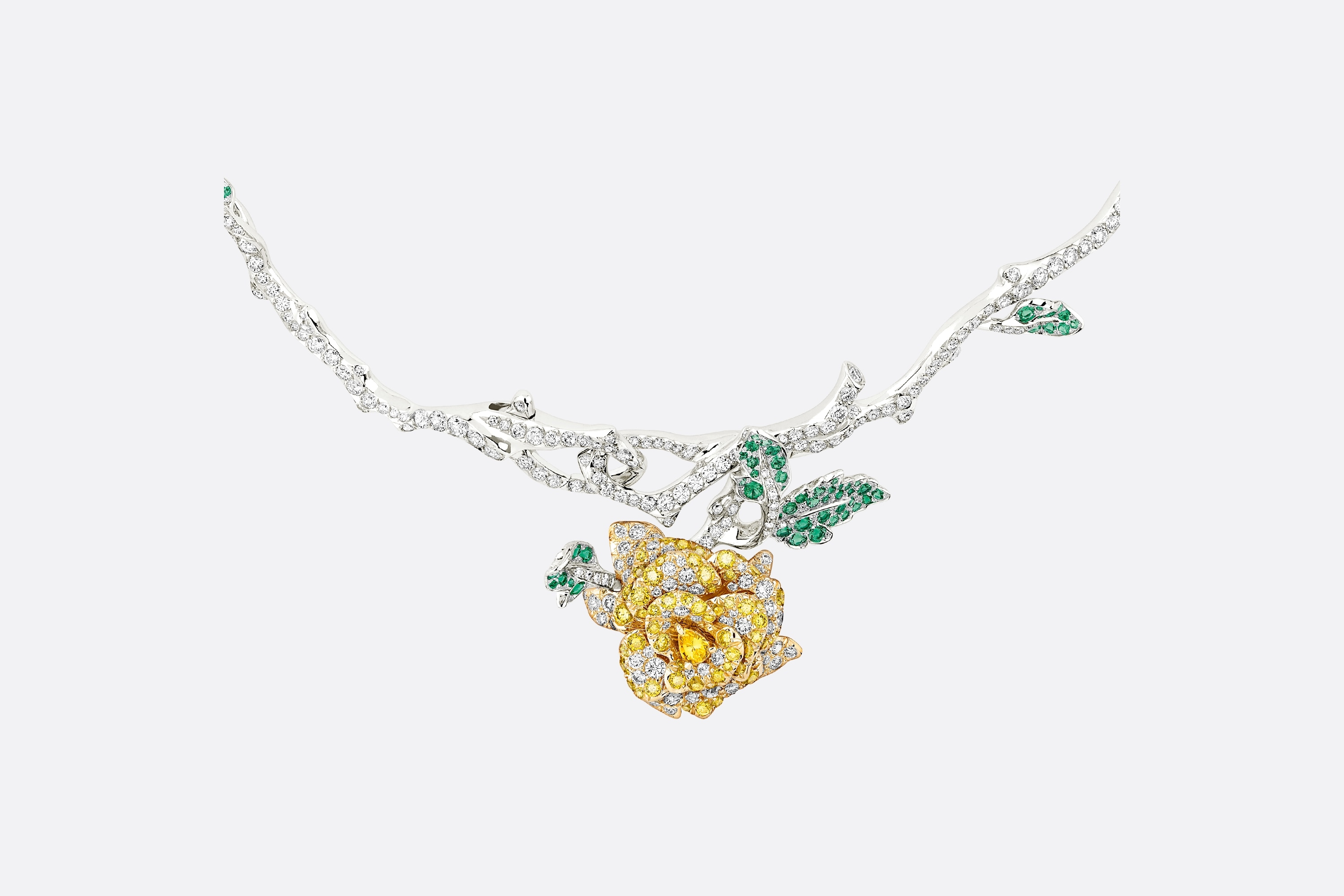 Rose Dior Bagatelle Necklace Front view Open gallery