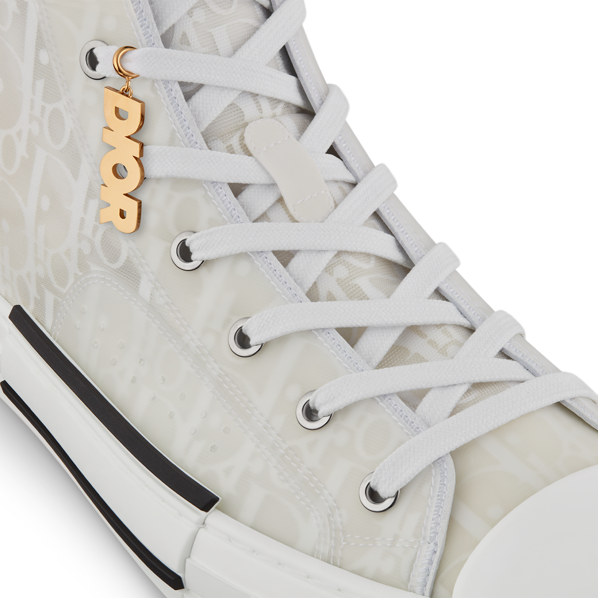 'DIOR' Sneaker Charm Worn view cropped Open gallery