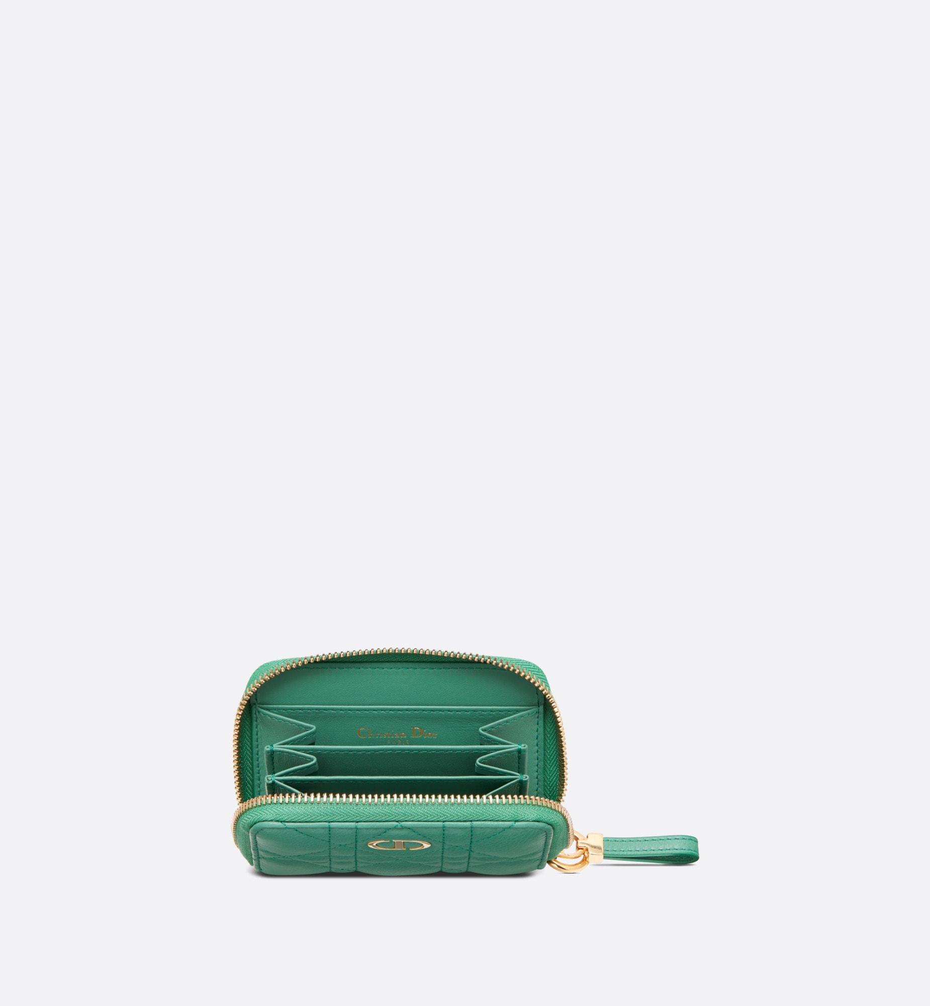 Dior Caro Detachable Card Holder Top shot view Open gallery