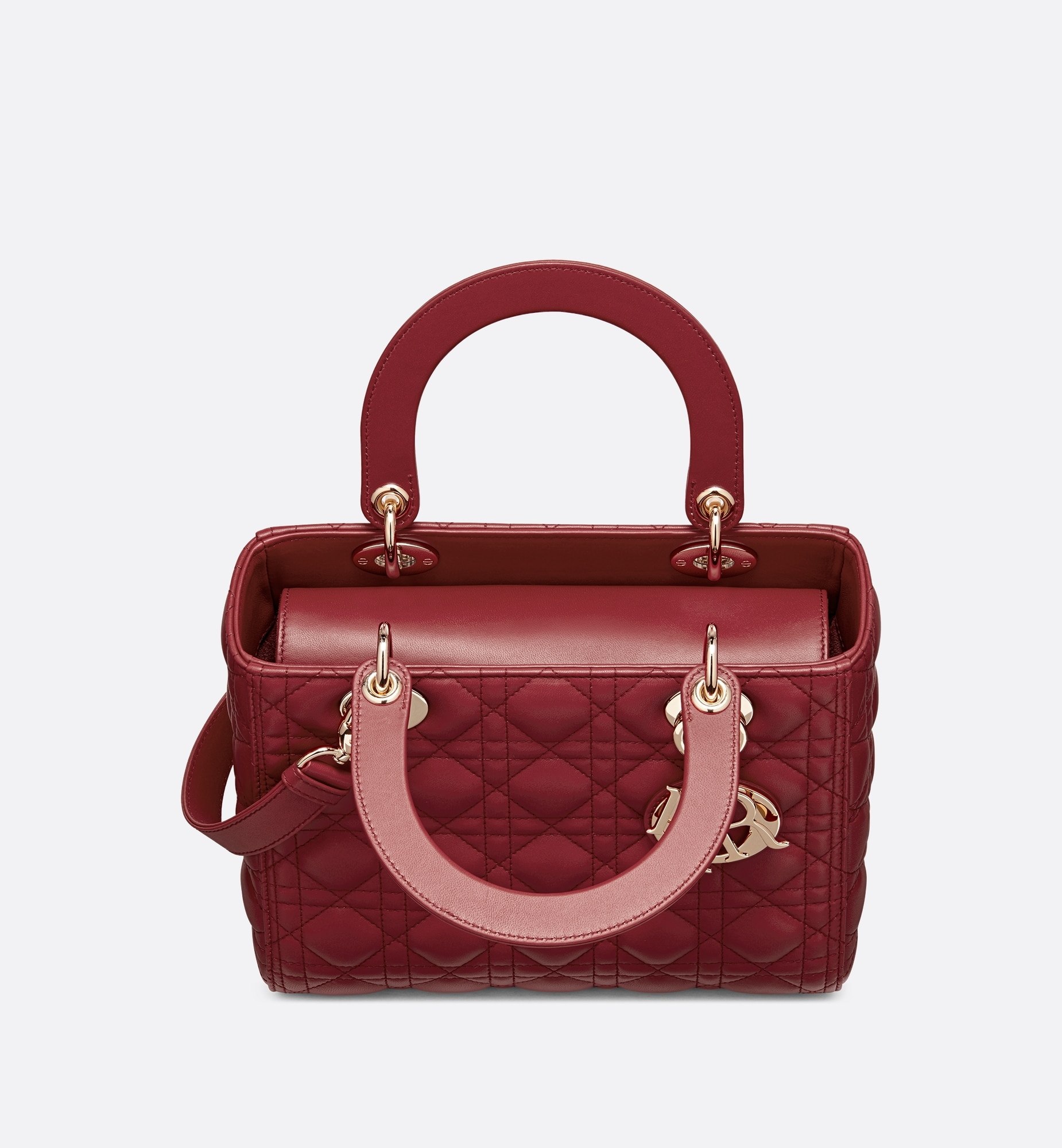 Medium Ultramatte Lady Dior Bag Top shot view Open gallery