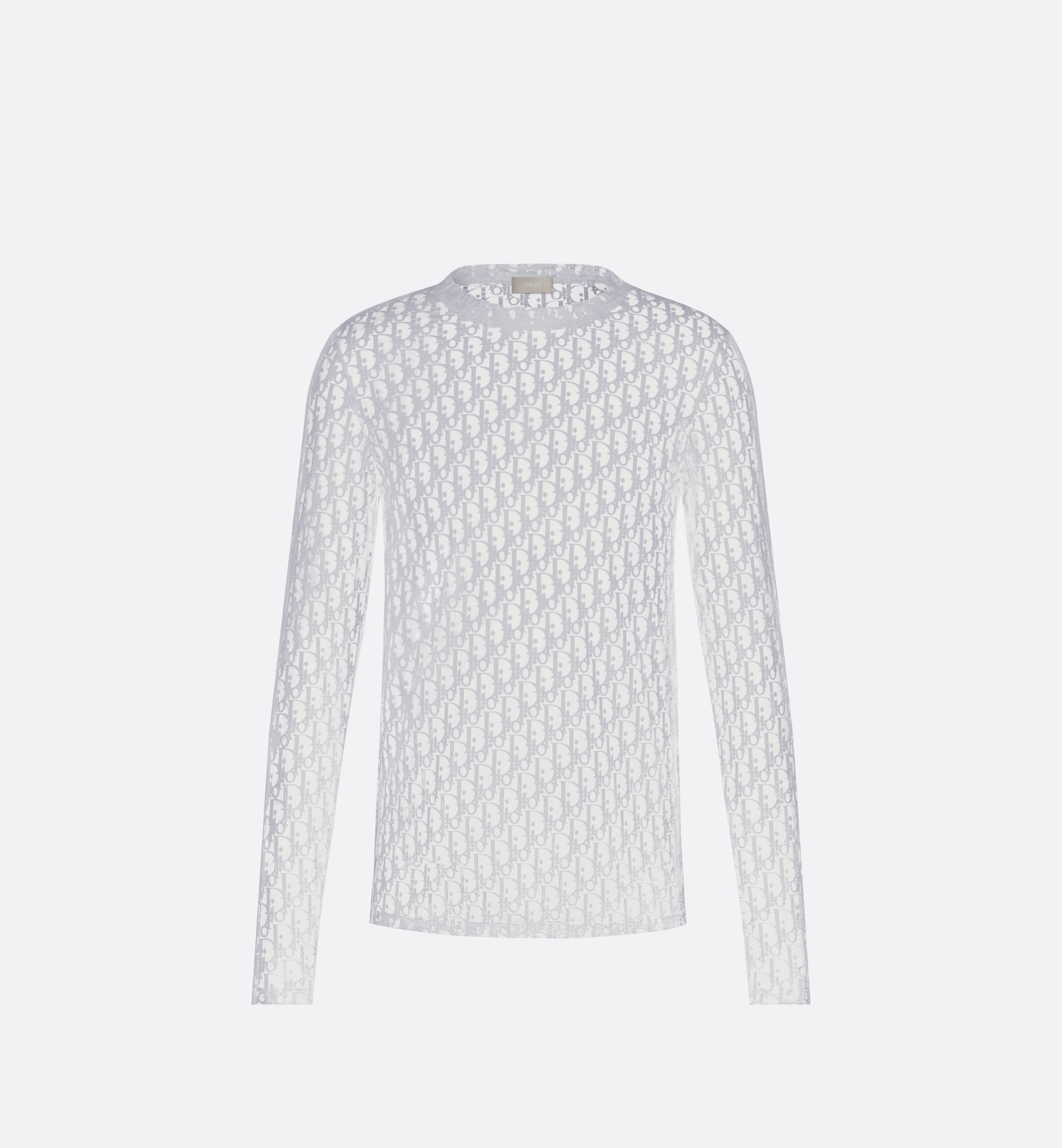 Long-Sleeved Dior Oblique T-Shirt Front view