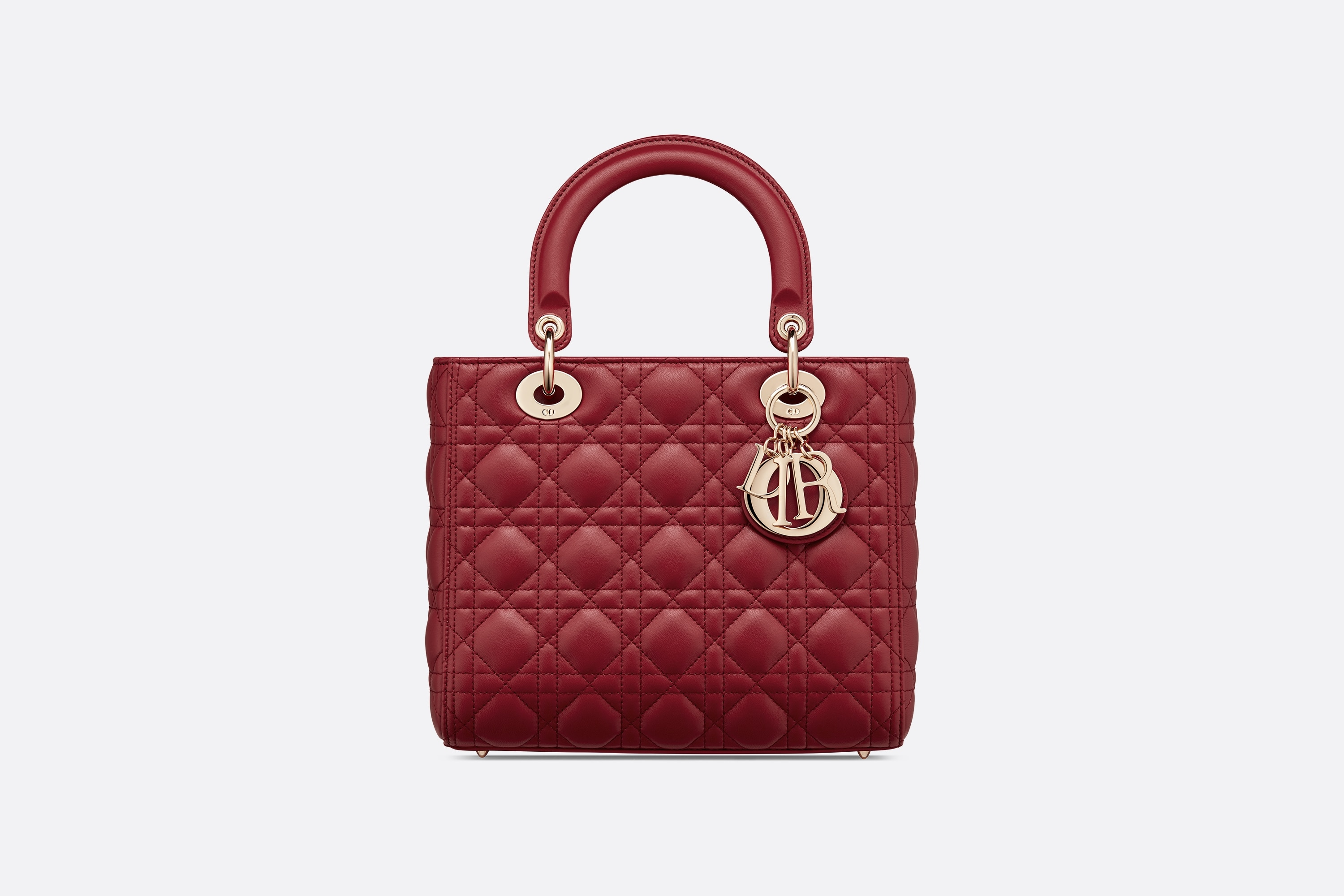 Medium Ultramatte Lady Dior Bag Front view Open gallery