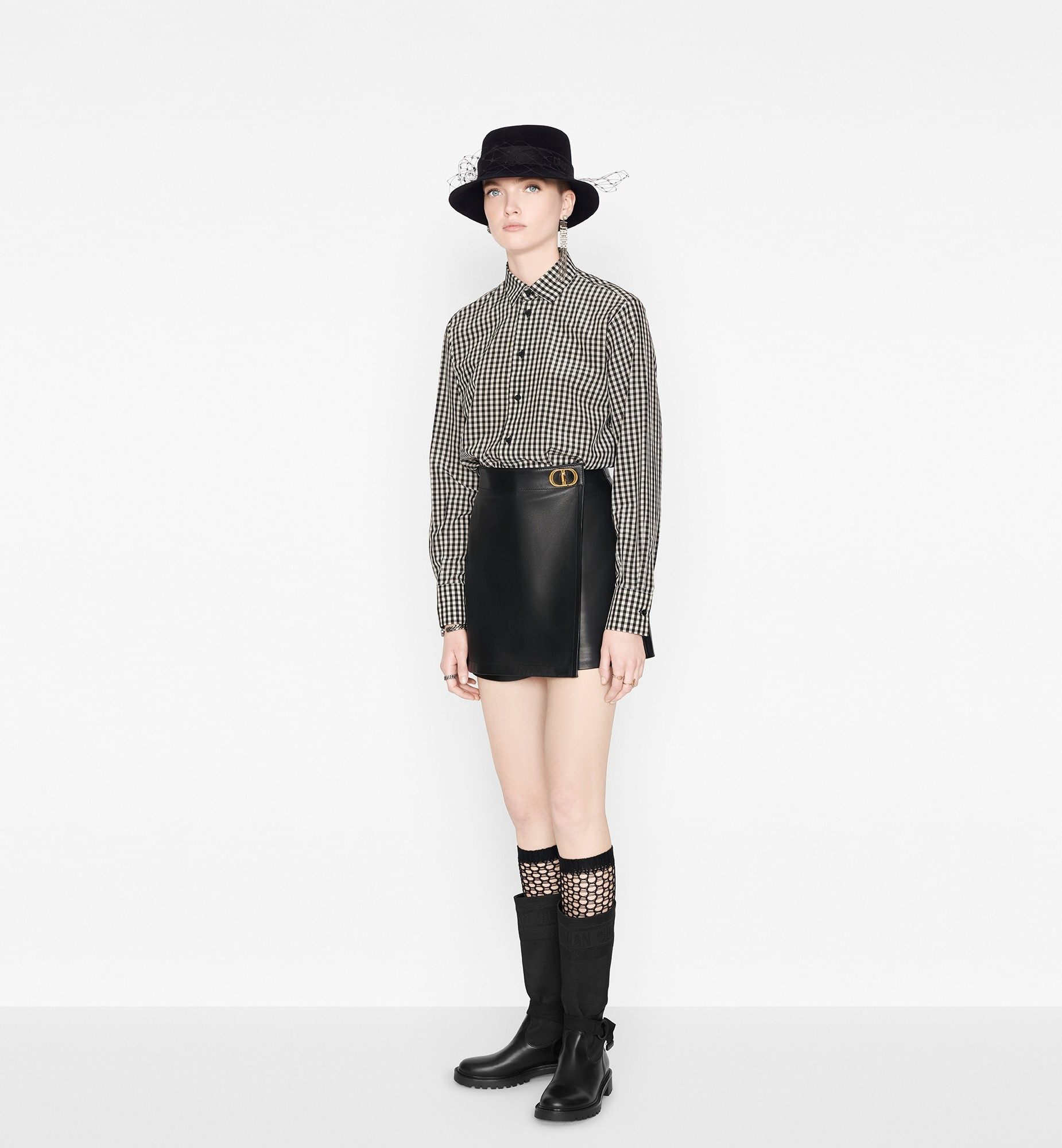 Wrap-Front Shorts with 'CD' Buckle Open gallery