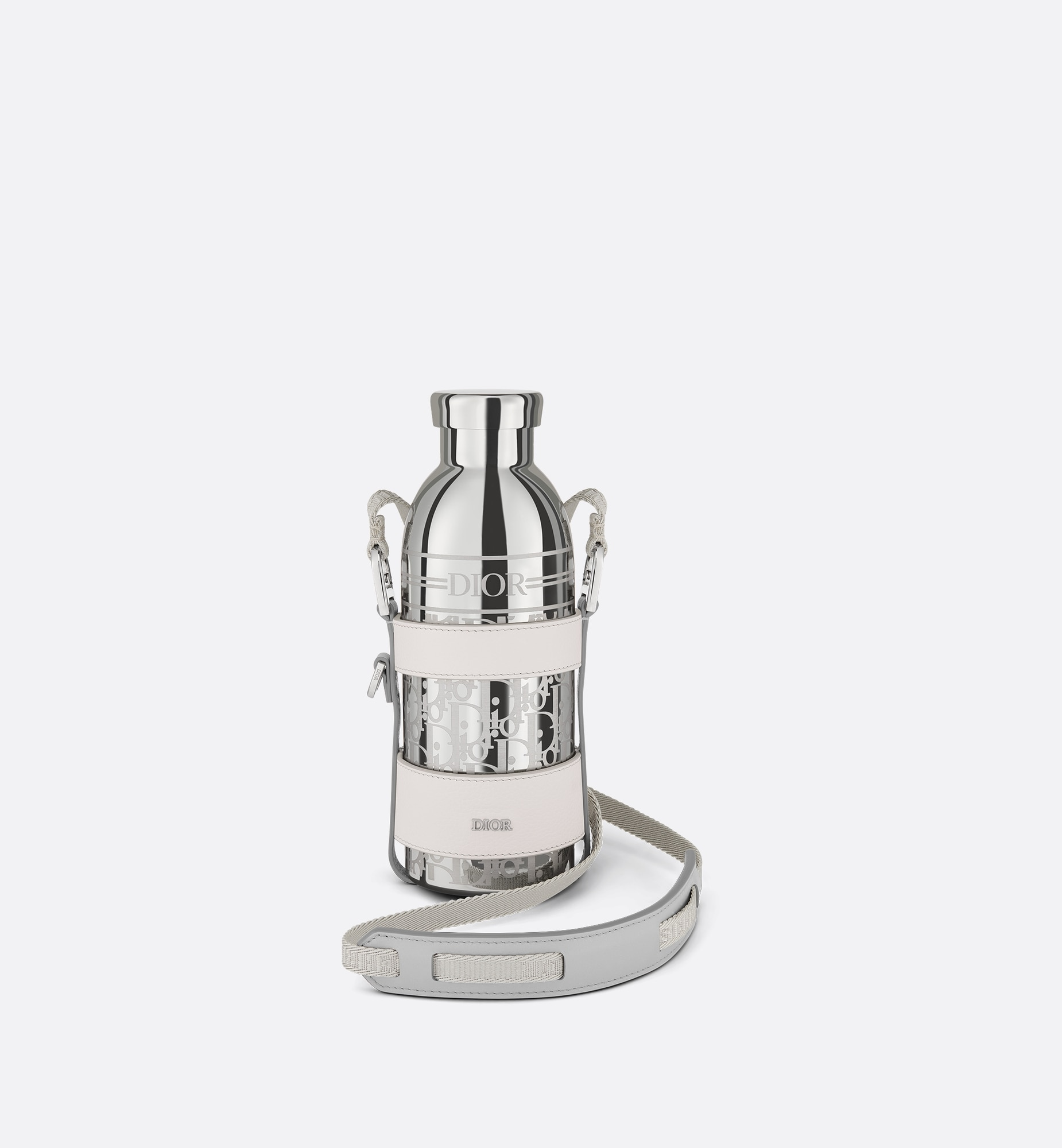 bottle holder with shoulder strap and bottle | Dior Front view