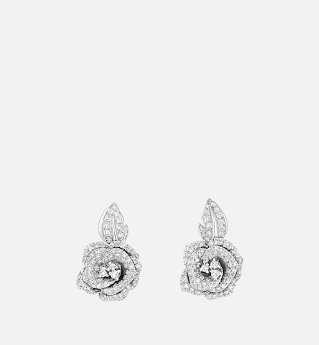 Medium Rose Dior Bagatelle Earrings Front view Front view