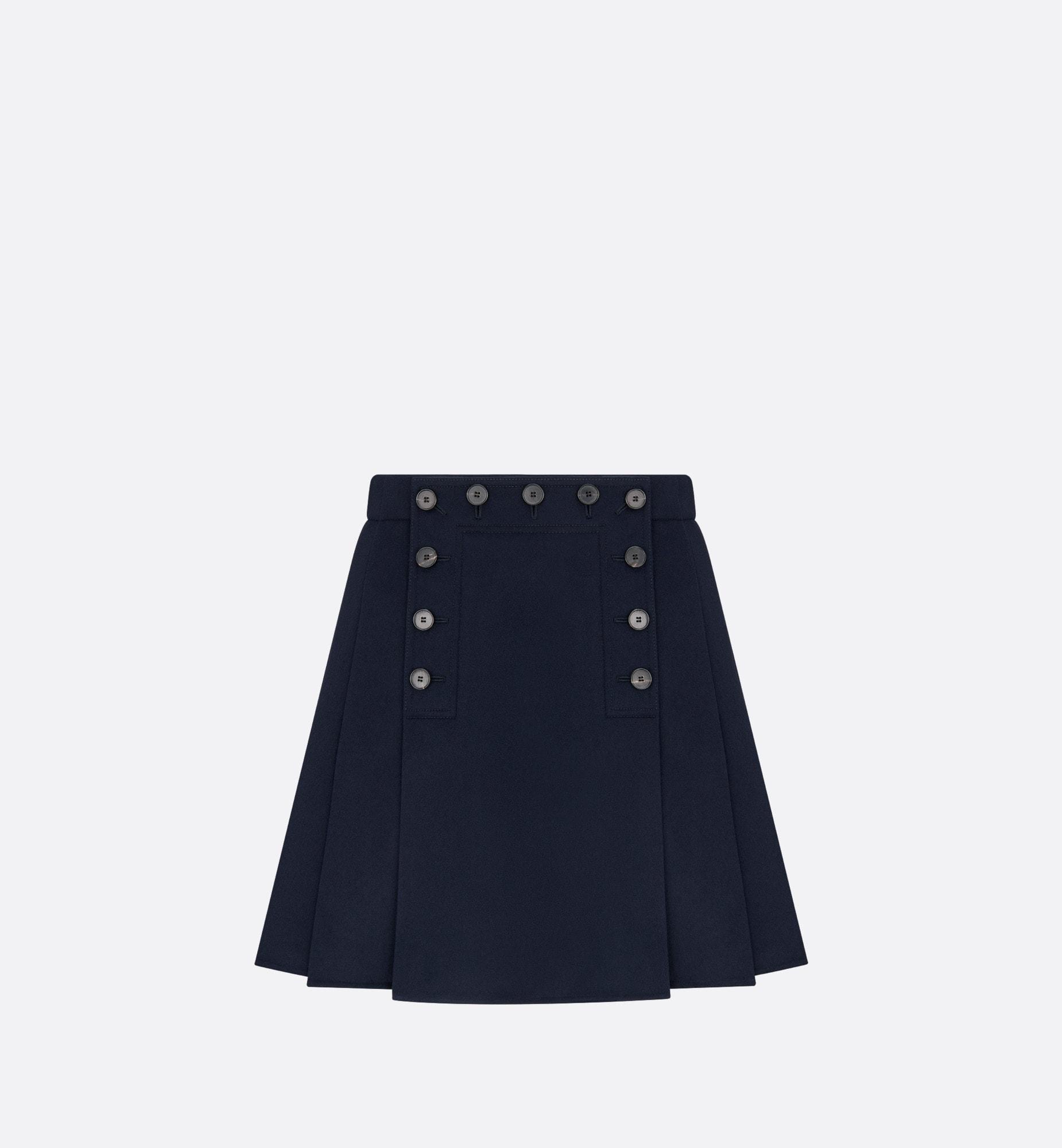mini jupe plissée à pont | Dior Vue de face