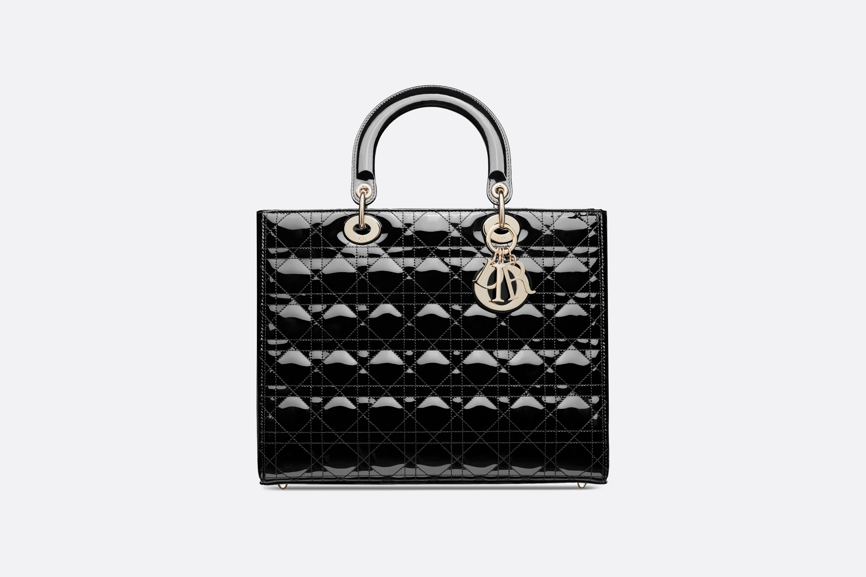 Large Lady Dior Bag  Front view Open gallery