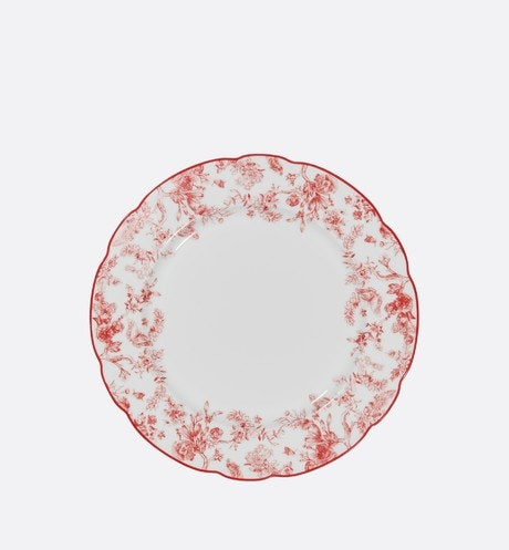 Toile de Jouy dinner plate front view