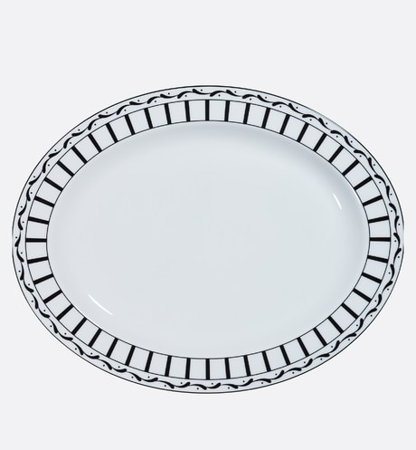 Large Monsieur Dior oval platter front view