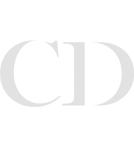 Tete de Mort Skull necklace in 18K white gold, diamonds and blue chalcedony front view