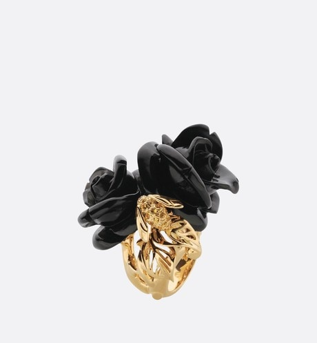 Large Rose Dior Pré Catelan Ring Front view