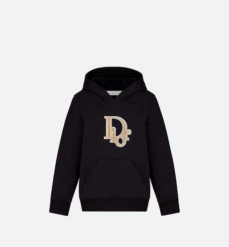 Sweatshirt en coton, patch Dior Oblique aria_frontView