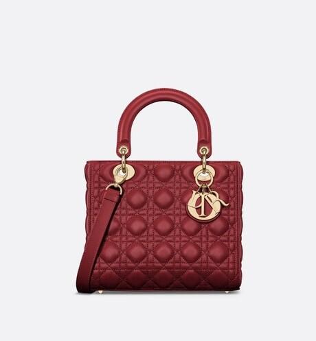 Mittelgroße Lady Dior Tasche aria_frontView
