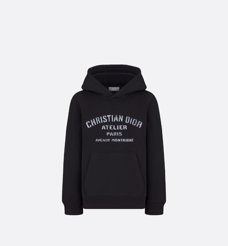 'Christian Dior Atelier' Hooded Sweatshirt Front view