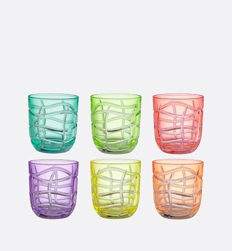 Set of Six Small Glasses Front view