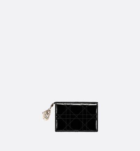 Lady Dior Flap Card Holder Front view