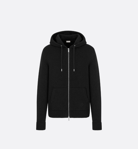 'CD Icon' Hooded Sweatshirt with Zip Front view
