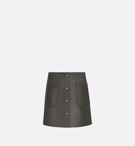 Short Skirt with 'CD' Buttons Front view