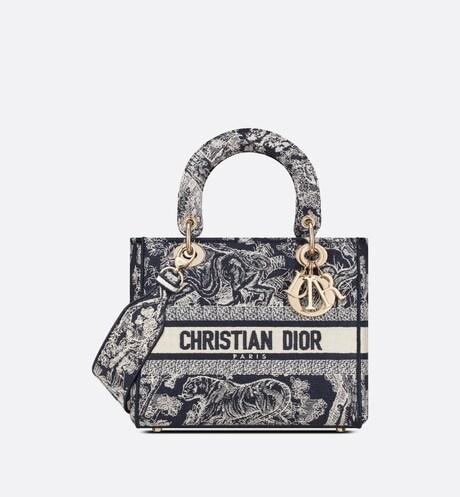 Medium Lady D-Lite Bag Front view