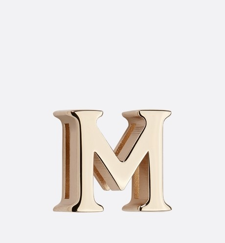 My ABCDior Letter 'M' Badge Front view