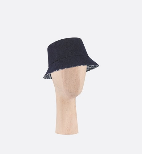 Reversible Dior Chic Small Brim Bucket Hat Front view