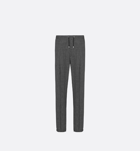 Micro-Houndstooth Track Pants Front view