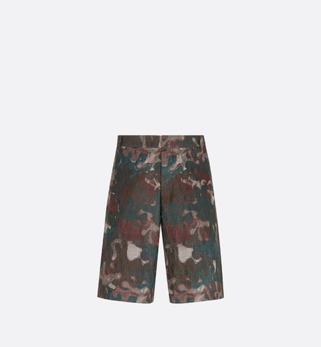 DIOR AND PETER DOIG Bermuda Shorts Front view