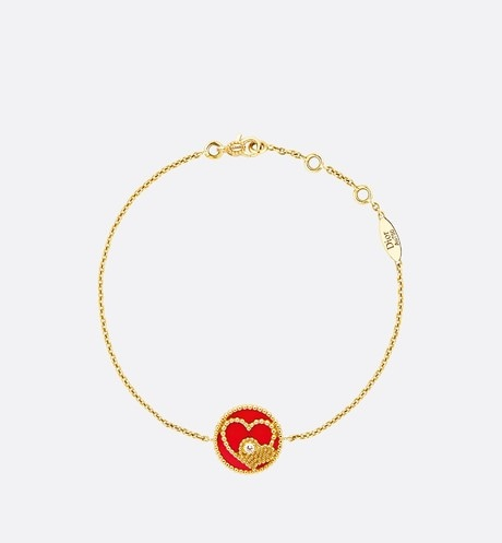 Rose des Vents Bracelet with Heart Motif Front view