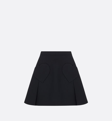 Dioramour Miniskirt with Heart-Shaped Pockets Front view