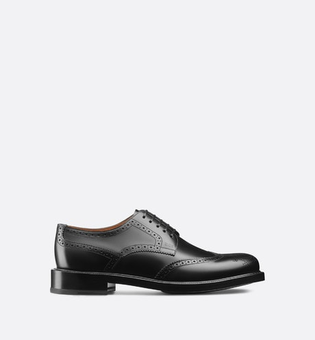 Derby Brogue Shoe in Black Calfskin aria_frontView