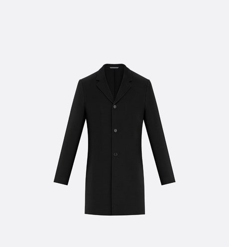 Black Single-Breasted Cashmere Coat aria_frontView